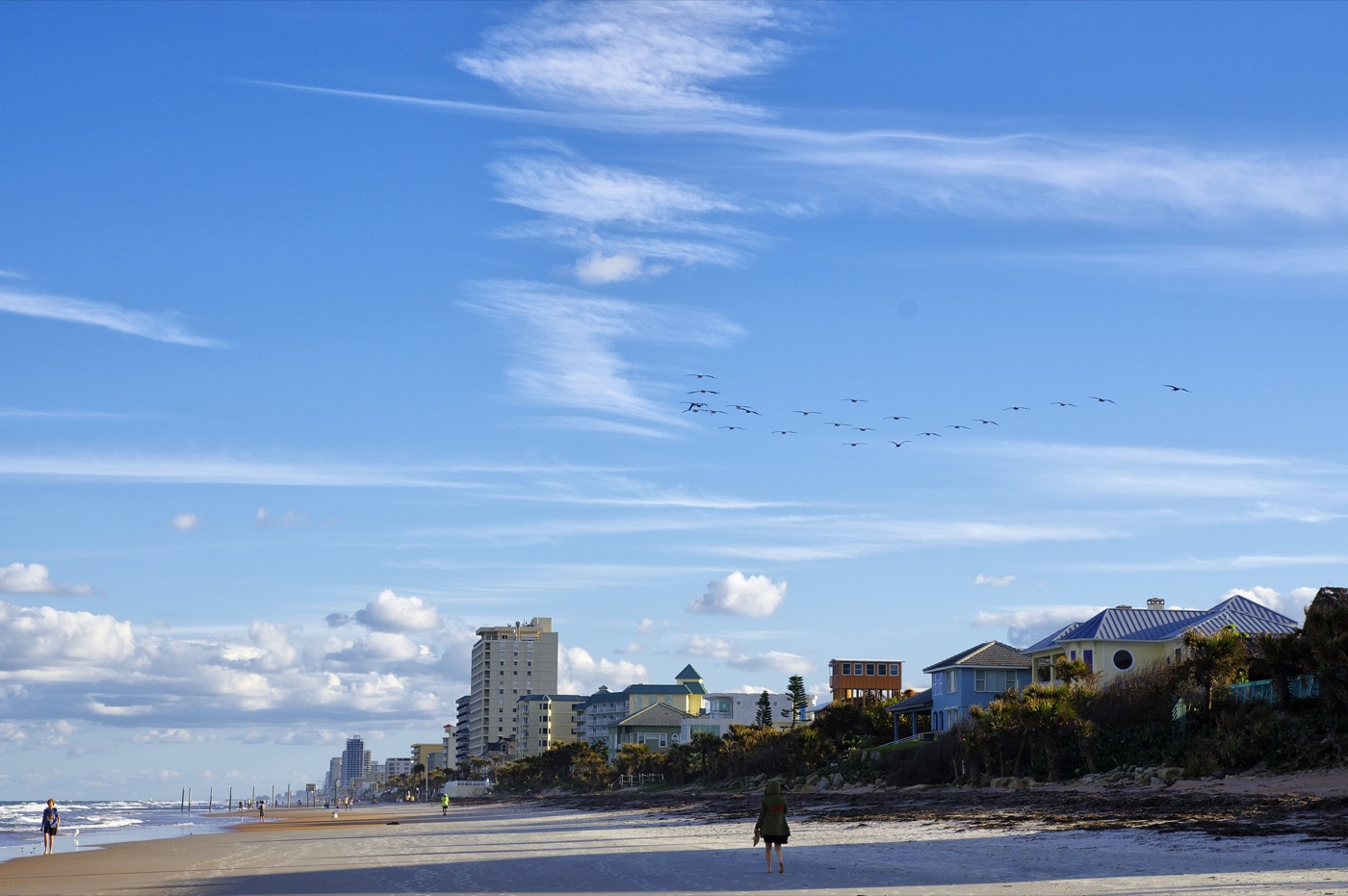 The Blue sky over Daytona Beach, Florida, USA